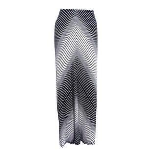 Studio M Women's Stripe Maxi Skirt (L, Black Combo) - black/combo - L