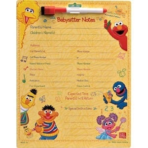 Sesame Street Themed Babysitter Notes Magnet