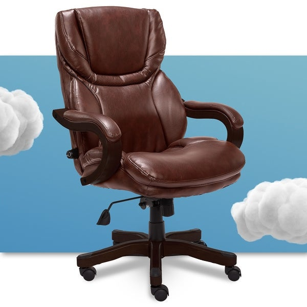 Serta Executive Brown Bonded Leather Big and Tall Office Chair. Opens flyout.