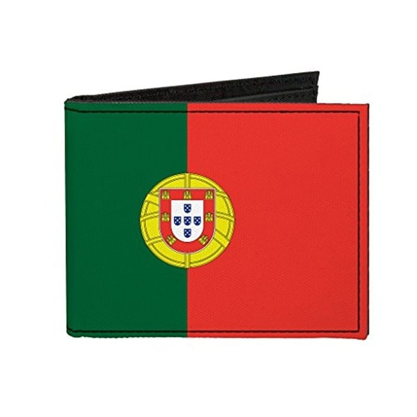 Buckle-Down Canvas Bi-fold Wallet - Portugal Flag Accessory