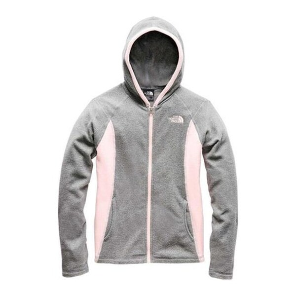 b81a50daf Shop The North Face Girls' Glacier Full Zip Hoodie TNF Medium Grey ...