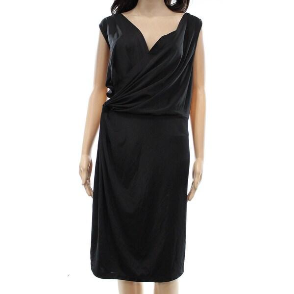 Shop Dknyc New Black Faux Wrap Style Dress Womens Size 3x Plus