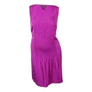 Lauren Ralph Lauren Women's Pintucked Scoop Neck Dress