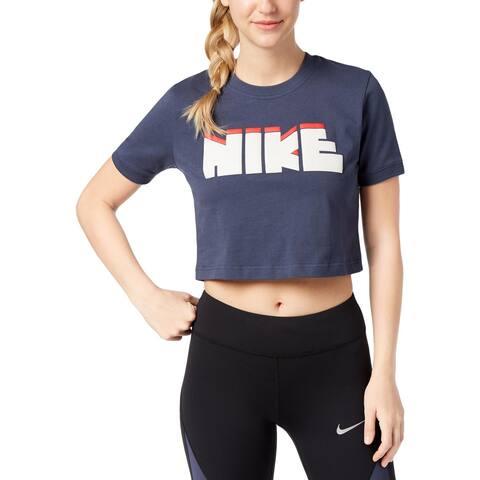 Nike Womens T-Shirt Crop Fitness