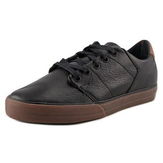Globe Los Angered Low Youth Round Toe Leather Black Skate Shoe