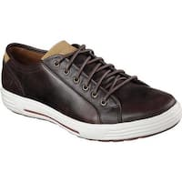 Skechers Men's Relaxed Fit Porter Ressen Sneaker Dark Brown
