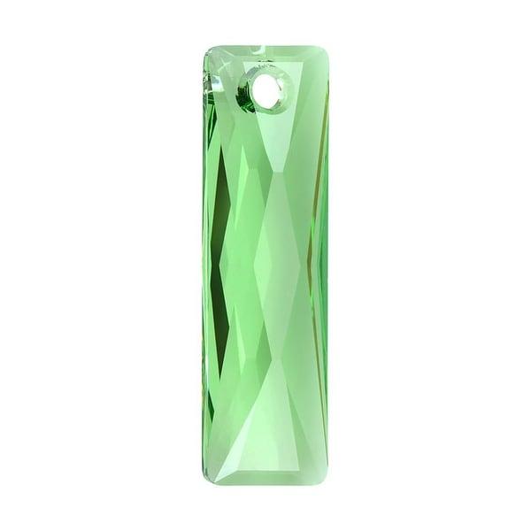 Swarovski Crystal, 6465 Queen Baguette Pendant 25x7mm, 1 Piece, Peridot