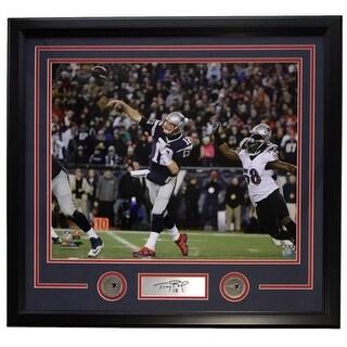 Tom Brady New England Patriots Framed 16x20 Photo Laser Engraved Signature