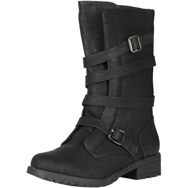 Bonnibel Rio-4 Women Riding Boots - Black pu