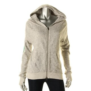 Pam & Gela Womens Cut-Out Long Sleeves Hoodie - S