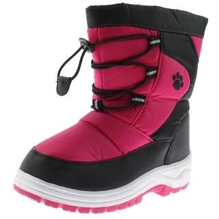 Rugged Bear Girls Snow Boots Winter Lined - 3 medium (b,m) little kid