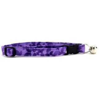 Purple Buttterflies Cat Collar