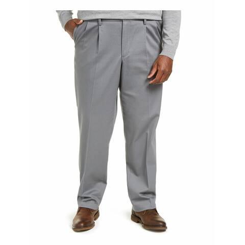 Dockers Mens Pants Gray Size 44X32 Big & Tall Khaki Classic Stretch