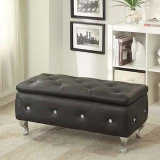 Upholstered Tufted Storage Bench
