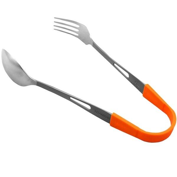 Toaks SLV-05 Outdoor Camping Picnic Spoon Fork 100/% Titanium Spork
