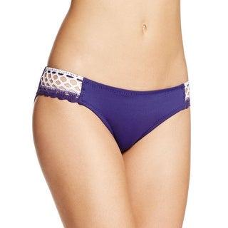Becca by Rebecca Virtue Womens Crochet Sides Hipster Swim Bottom Separates