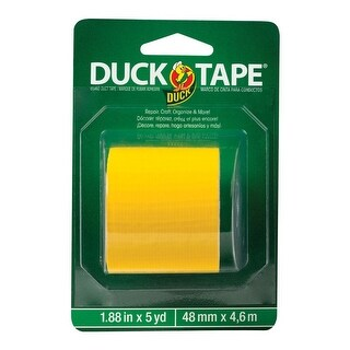 "Duck 285438 Heavy duty Solid Duct Tape, Yellow, 1.88"" x 5 yard"