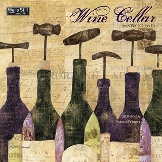 Wine Cellar Wall Calendar, Wine, Beer & Spirits by Avalanche Publishing