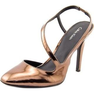 Calvin Klein Marilynn Women Round Toe Synthetic Slingback Heel