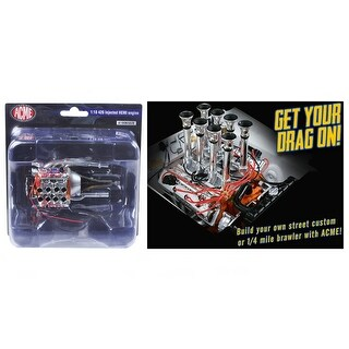 Fuel Injected 426 Hemi Engine and Transmission Replica 1/18 by Acme