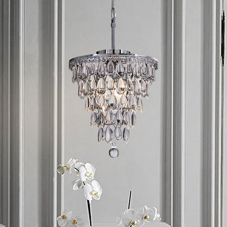 Interior decor glass tear drops 3-lights chandelier ceiling lighting