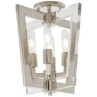 "Kovacs P1379-613 Crystal Chrome 4 Light 14"" Wide Semi-Flush Ceiling Fixture with"