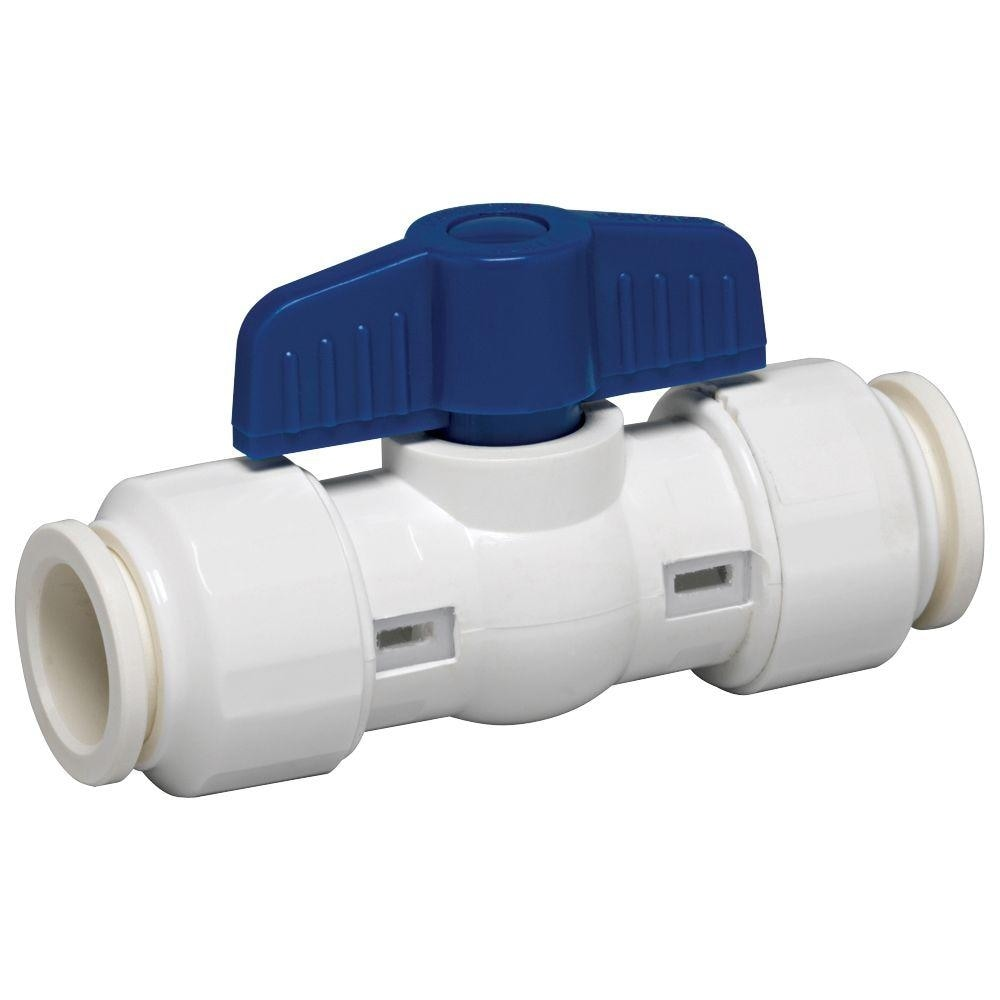 GripWerks 117-8-12-12B Push-Fit PVC Ball Valve, 1/2