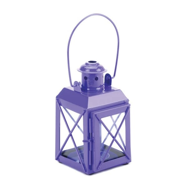 Set of 2 Purple Trolley Lantern Candle Lamps. Opens flyout.