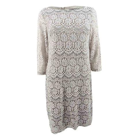 Jessica Howard Women's Lace Shift Dress