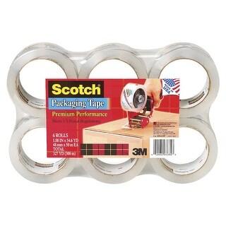 Scotch 1.88 In. x 54.65 Yd. Heavy Duty Packaging Tape, Pack - 6