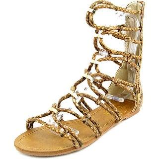 XOXO Galina   Open Toe Synthetic  Gladiator Sandal
