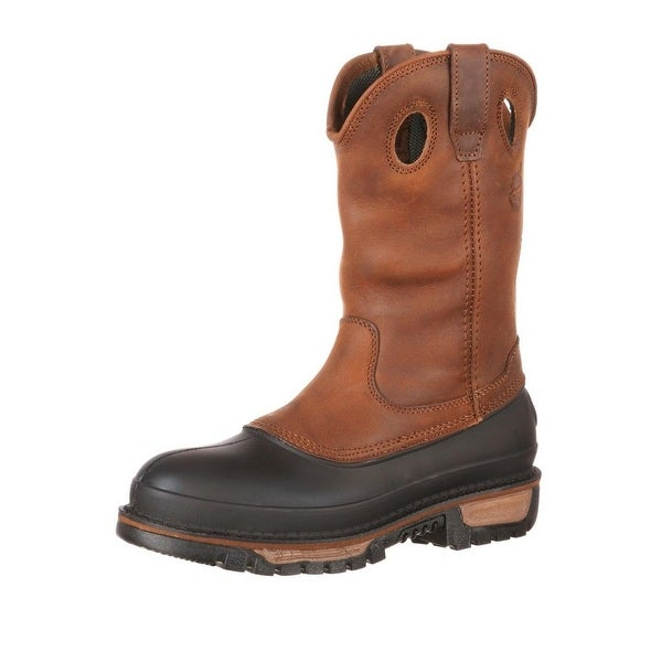 Georgia Boot Work Mens Muddog Pull On Leather Comfort Brown