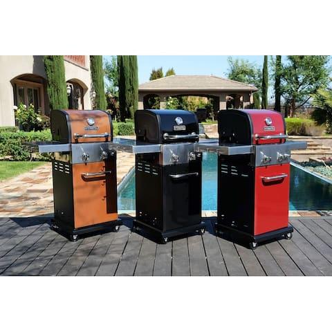 Permasteel 2 burner grill with folding side shelves