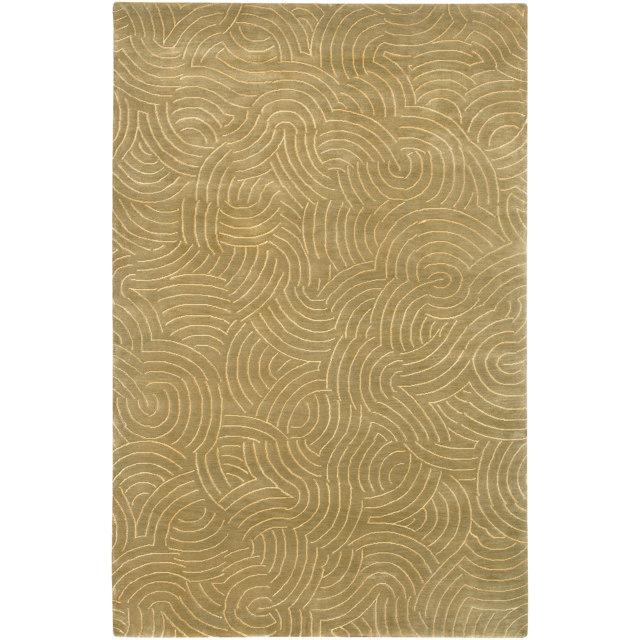 Hand Knotted Woodstock Abstract Design Wool Area Rug 9 X 13 On Sale Overstock 6137045