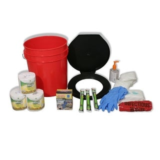 Ready America Lockdown Toilet Bucket Kit - 4-10 Persons 71641
