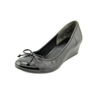 Cole Haan Air Tali Lace Wedge Women Open Toe Patent Leather Wedge Heel