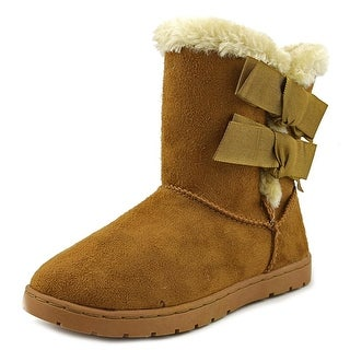 Rampage Girls Beatrix Youth Round Toe Canvas Brown Winter Boot