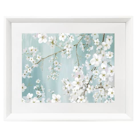 Premius Conference Framed Floral Wall Art, White, 17x21 Inches - 17x21 Inches