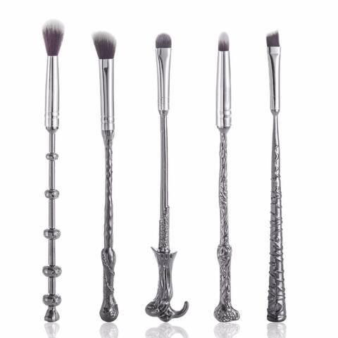 Professional Wizard Wand Makeup Brush Set (5-Piece)
