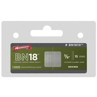 "Arrow BN1810CS Steel Brad Nail, 5/8"", Brown Clamshell"