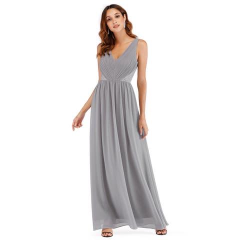 e169a9ac471 Ever-Pretty Women Fashion Deep V Neck Sleeveless Long Evening Party Dress  07497