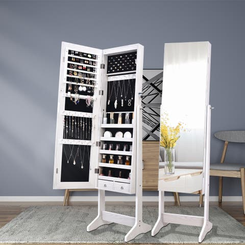 Full Mirror Makeup Cabinet Storage Cabinet Jewelry Mirror Cabinet