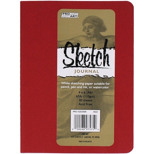 "Pro Art Softcover Sketch Journal 4""X6""-Red"