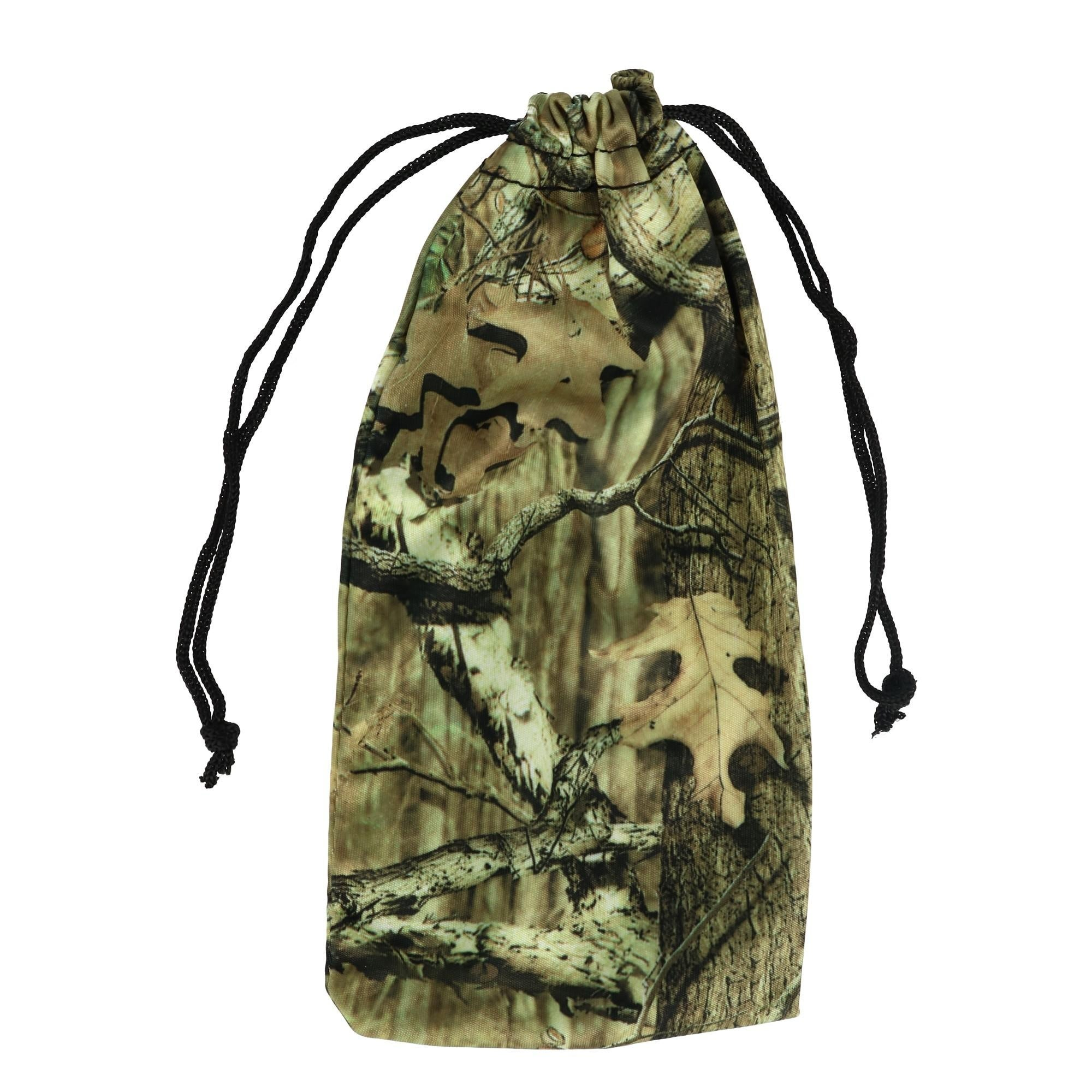 CTM Camouflage Print Glasses Case Pouch with Drawstring Closure