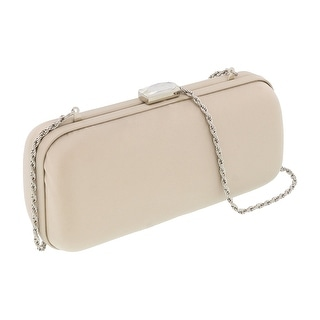 Scheilan  Neutral Satin Box Clutch