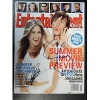 Signed Bruce Almighty Jennifer Aniston Jim Carrey Entertainment Weekly Magazine from April 25 2003