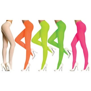 Womens Opaque Tights Adult Halloween Costume Accessory