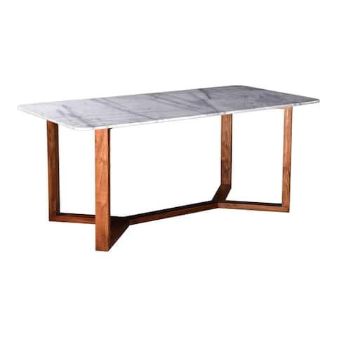 Aurelle Home Jayda Modern Rectangular Marble Top Dining Table