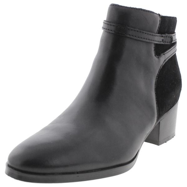 Lauren Ralph Lauren Womens Damara Ankle Boots Suede Heels - 5 medium (b,m)