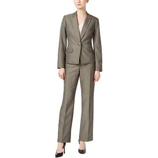 Le Suit Womens Pant Suit Pinstripe Business